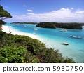 오키나와 이시가키 섬 가비라 완 풍경 사진 5930750