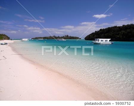 오키나와 이시가키 섬 가비라 완 풍경 사진 5930752