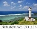 從Hirakubo燈塔,沖繩Ishigakijima景觀 5931406
