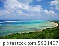 오키나와 이시가키 섬 平久保 등대의 풍경 5931407