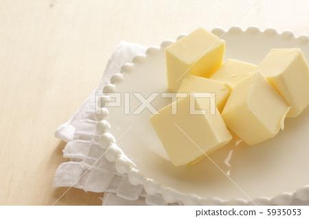 甜美的材料切割無角無鹽黃油 5935053