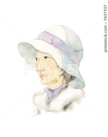 모자를 입은 여성 5937437