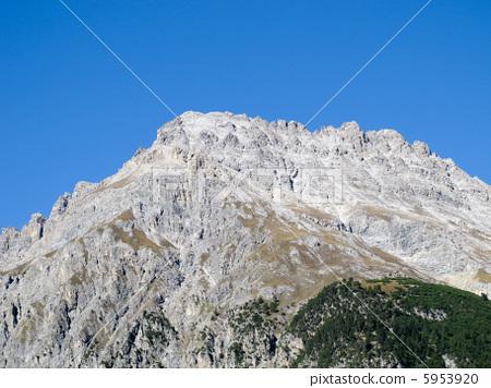 Rocky Mountain: Mountain peak: Swiss Alps in fine weather: Swiss landscape (Europe) 5953920