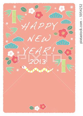 新年贺卡 贺年片 插图 5954252