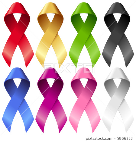 Vector breast ribbons set 5966253