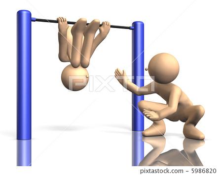 3DCG illustration showing freely unconventional children 5986820