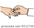 Ring exchange at the wedding ceremony 6012799
