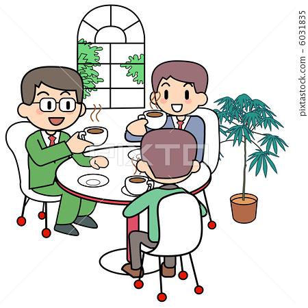 Coffee shop / 3 men 6031835