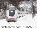 겨울의 아키타 신칸센 6069796