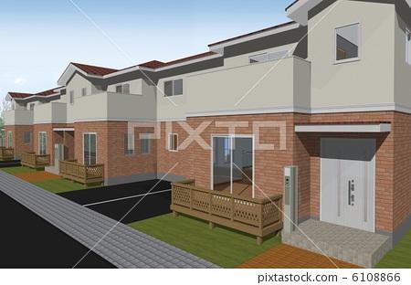 Maisonette type rental housing 6108866