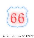 交通標誌 66號公路 號公路 6112477