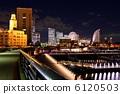 มุมมองตอนกลางคืนของ Yokohama 6120503
