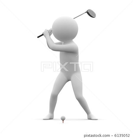3d human - golf(wood) 6135052