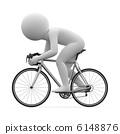 3d human - cycling 6148876