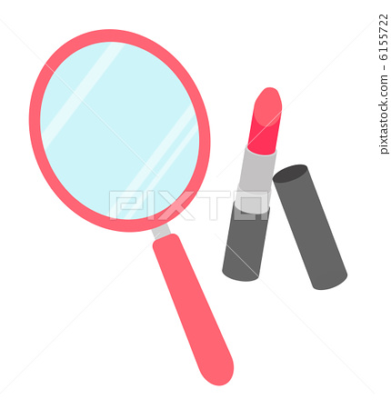 Hand mirror and lipstick 6155722