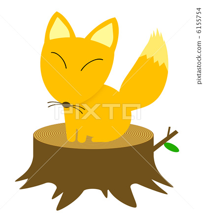 A fox riding a stump 6155754