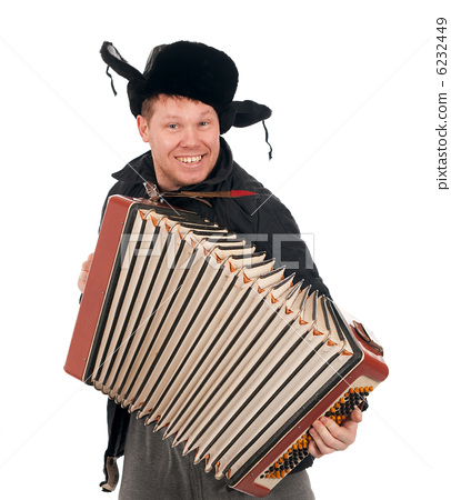 Russian man with accordion 6232449