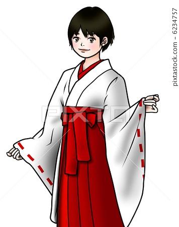 기모노 여성 무녀 6234757