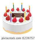 生日蛋糕_鮮奶油 6239757