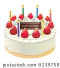 生日蛋糕_鮮奶油 6239758