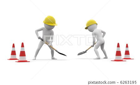 3d human - construction 6263195