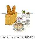 baguette, cake, cakes 6305473