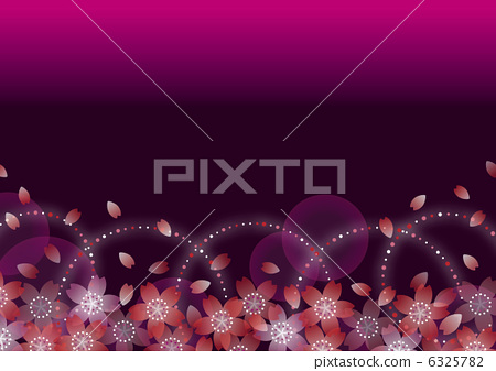 Cherry blossoms background _ 01 Horizontal red purple 6325782