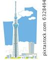 天空樹和市容 6328494
