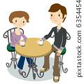 一對夫婦在咖啡館休息 6354454