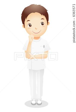 Male health worker illustration 6363571