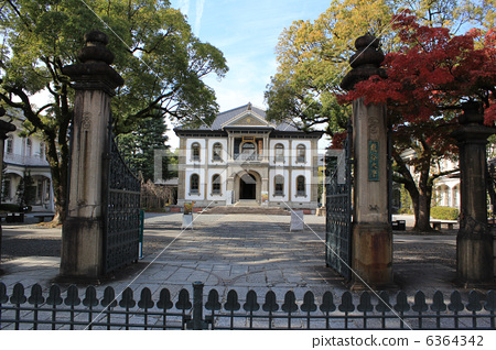 """""""Ryukoku University Omiya campus (main gate and main building)"""" of Western architecture and historical buildings 6364342"""