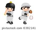 youth, baseball, batter 6382141