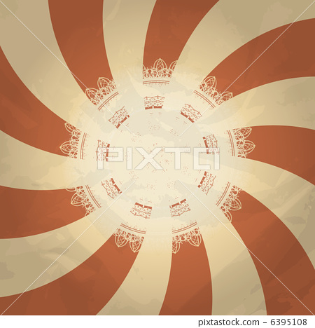 vector retro background with abstract pattern and place for your 6395108