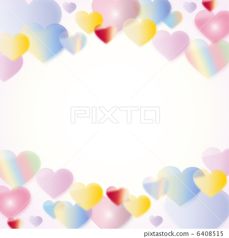 Fluffy colorful heart 6408515