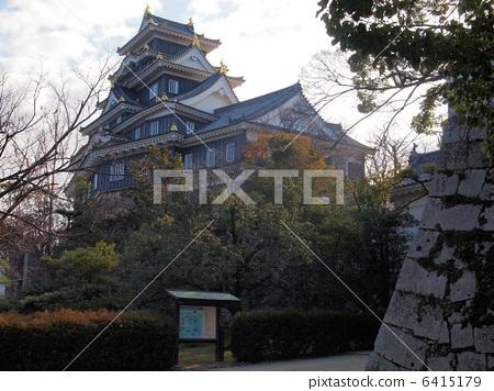 Okayama castle castle tower in January 6415179