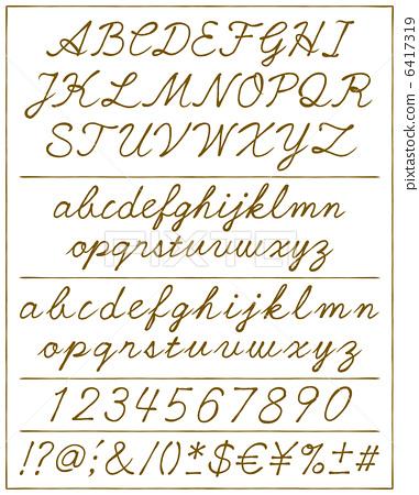 Number Names Worksheets alphabetical cursive : cursive style, alphabetical, alphabetic - Stock Illustration ...