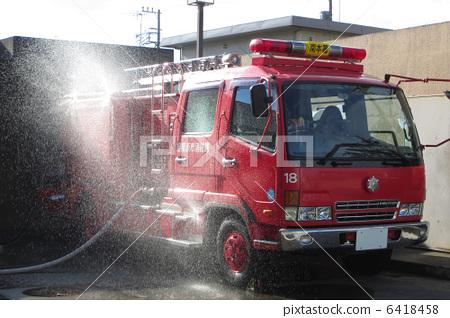 Stock Photo: firetruck, fire-engine, general public