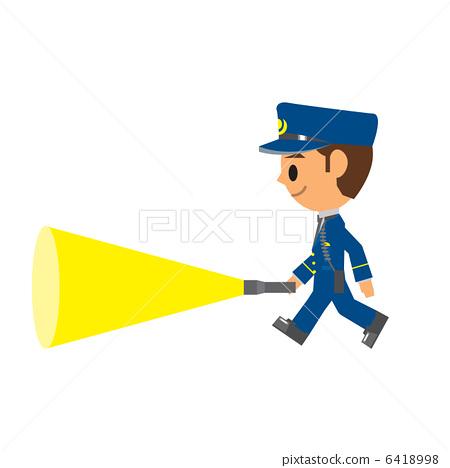 警察巡邏-插圖素材[6418998] - PIXTA圖庫