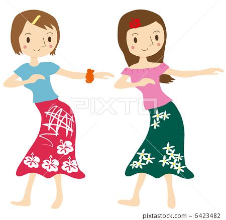 A woman making a hula dance 6423482