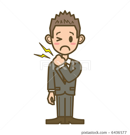 Business man F 02 Full body shoulder stiffness 6436577