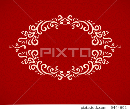 Happy Valentines Day greeting card with frame  6444691