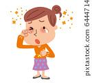 花粉症眼睛发痒的女人 6444714