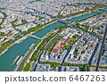 Aerial view of Paris from Eiffel Tower. 6467263