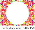 Flower pattern frame 6487159