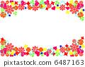 Flower pattern frame 6487163