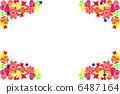 Flower pattern frame 6487164
