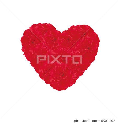 心,紅色,康乃馨 6501102