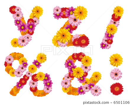 Flower lower case letters, alphabet, flowers, English, 6501106