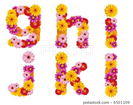 꽃의 소문자 알파벳, 꽃, 영어, 6501109