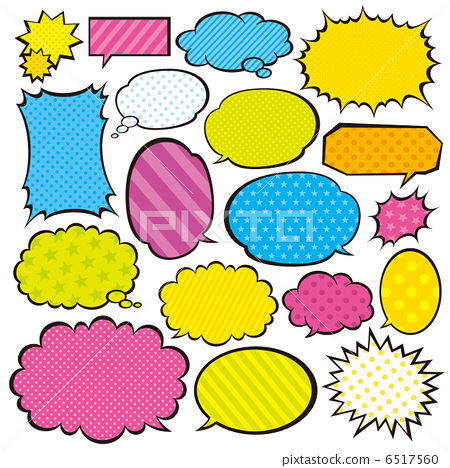 對話泡泡 噴出 對話氣球 6517560